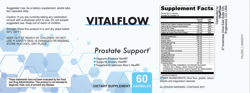 Vitalflow Prostate Ingredients