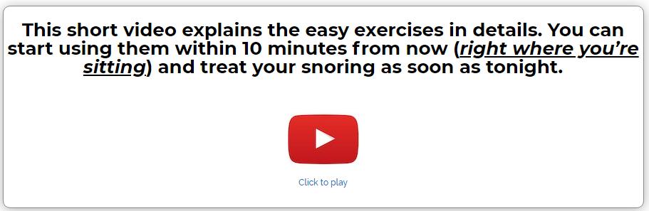 The Stop Snoring and Sleep Apnea Program Video